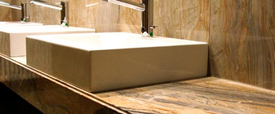 Encimeras de ba os marmoles y granitos el boton de for Banos granitos y marmoles